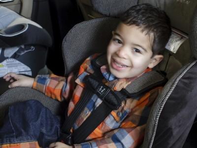 Male child in car seat