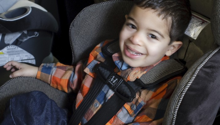 Male child in car seat